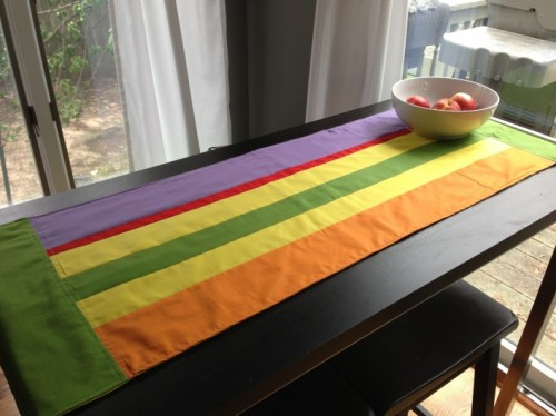 DIY Summer Stripe Table Runner