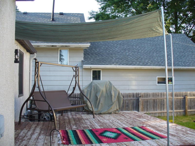 Shade For Sunny Backyard : diy sun shade for your patio or terrace shelterness vinyl patio cover
