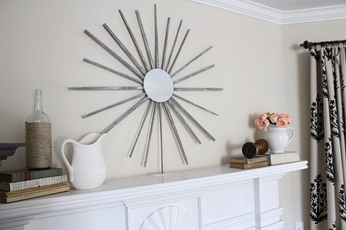 Diy Sunburst Mirror Of Bundle Of Kindling