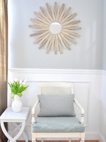 Diy Sunburst Mirror Of Painting Sticks