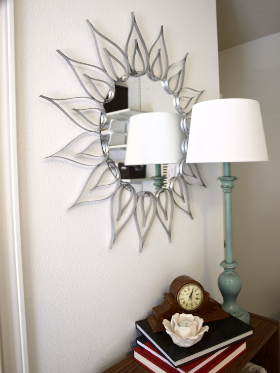 Diy Sunburst Mirror Of Plastic Strips