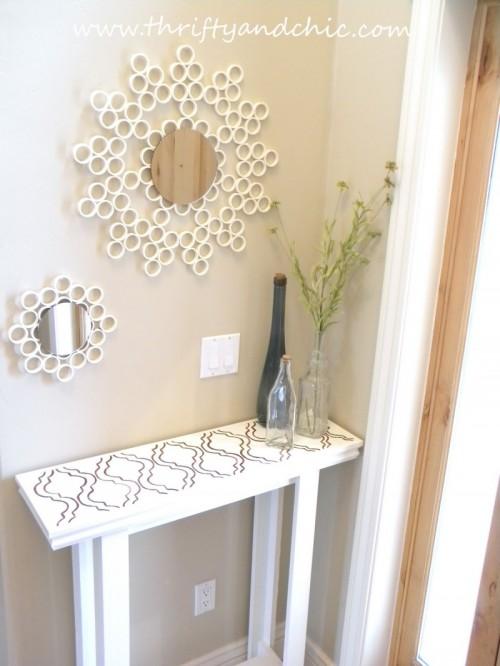 DIY Sunburst Mirror Of PVC Pipes Shelterness