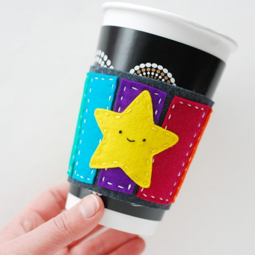 DIY Super Mario Inspired Road Coffee Cuff