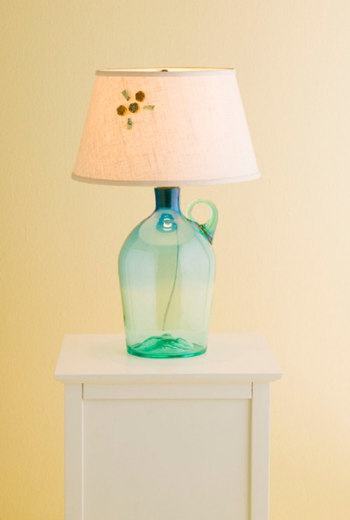 DIY Table Lamp In A Bottle