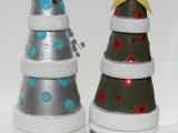 Diy Tabletop Christmas Trees From Pots