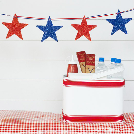 Diy Tagboard Star Garland For 4th Of July