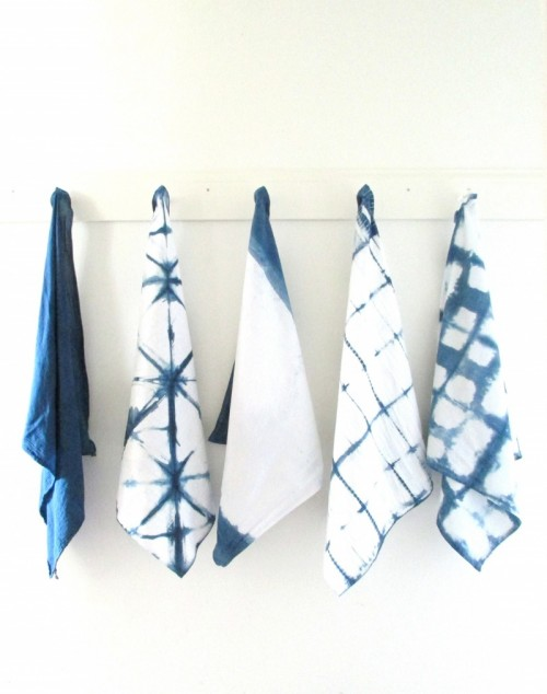 indigo tea towels