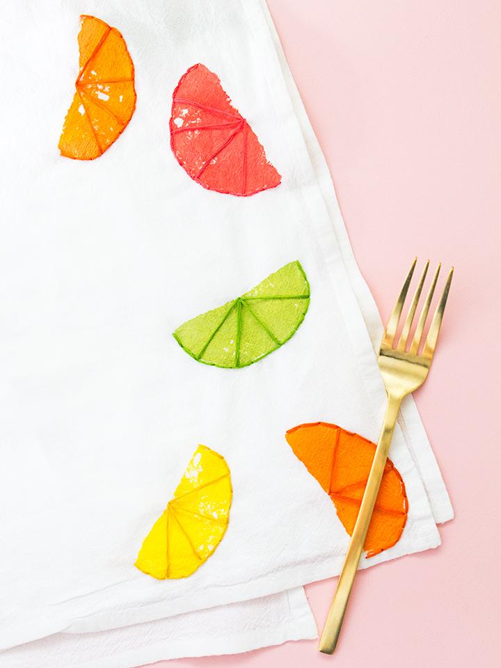 citrus tea towels