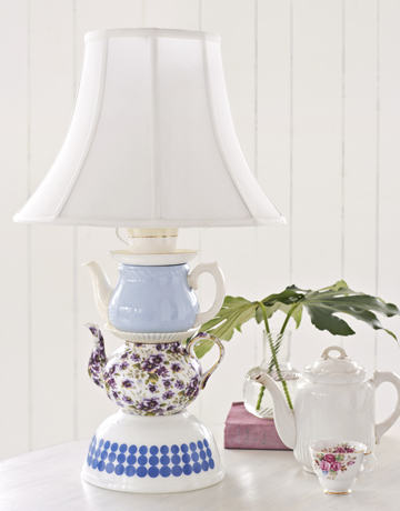 DIY Tableware Tabletop Lamp