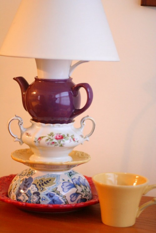 Diy Teapot Tabletop Lamp
