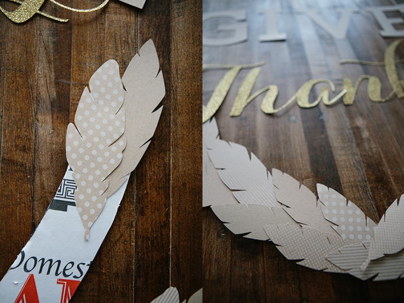 Picture Of diy thankgiving frame of paper and cardboard  3