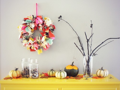 Diy Thanksgiving Fabric Wreath