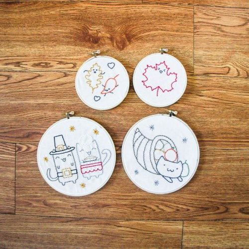 Thanksgiving embroidery (via thepinksamurai)