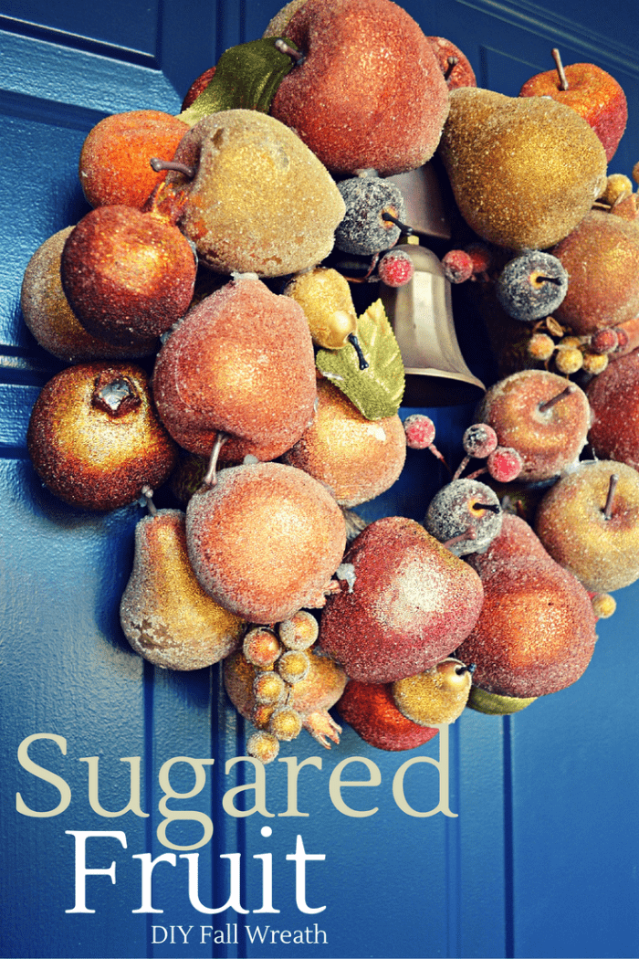 sugared fruit wreath