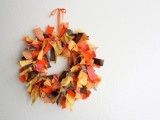 Thanksgiving fabric wreath