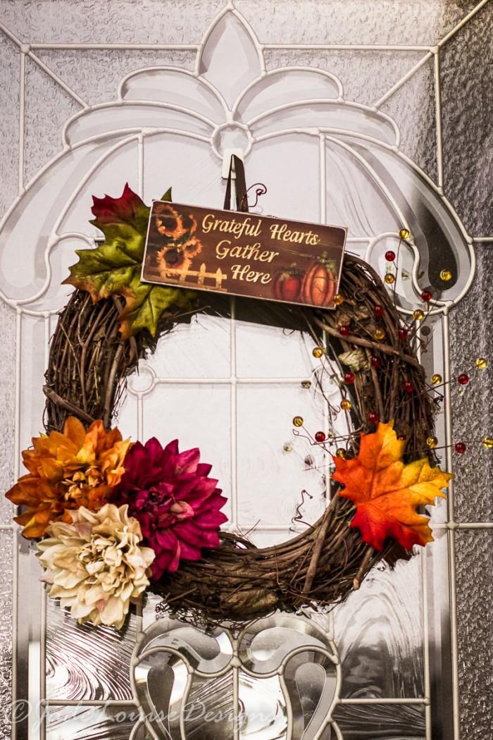 simple Thanksgiving wreath
