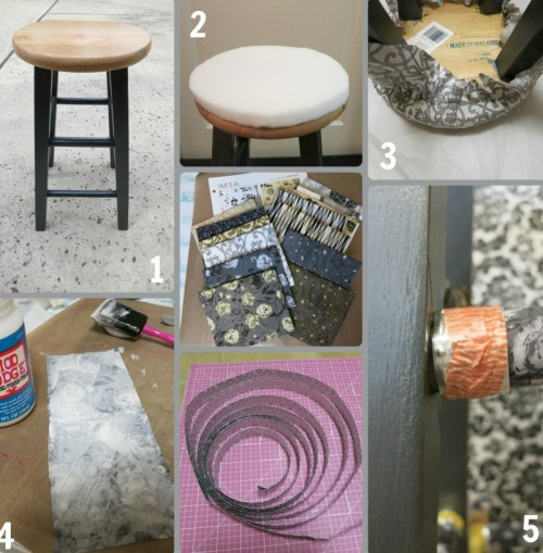DIY Thrifted Wood Stool Makeover