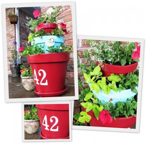 DIY Tiered Outdoor Planter