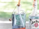 whiskey bottle tiki torches