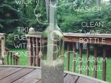 tiki torch with aquarium gravel