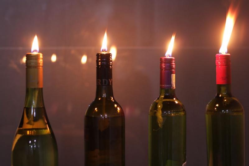 easy wine bottle torch