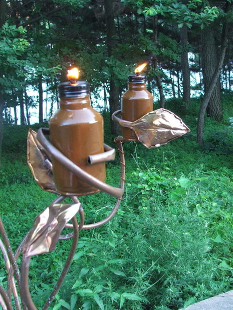 tiki torch tree (via instructables)