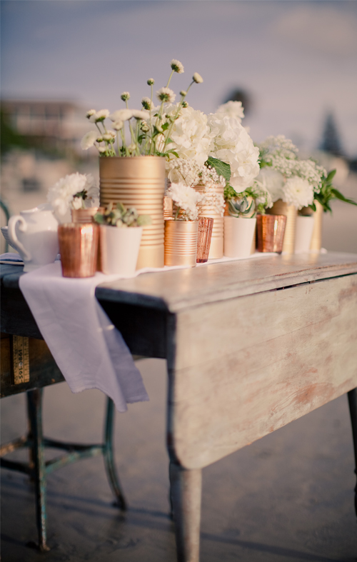 Diy Tin Can Centerpiece