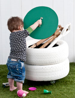 DIY Tires Storage Bin