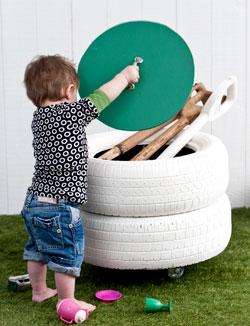 Diy Tires Storage Bin