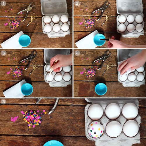Diy Tissue Paper Dyed Easter Eggs