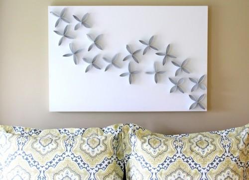 Diy Toilet Paper Roll Wall Art