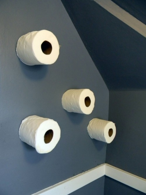 Diy Toilet Paper Storage On A Wall