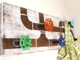 reclaimed wood and faucet hanger