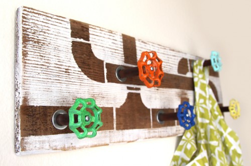 12 DIY Towel Hooks And Hangers For Every Interior