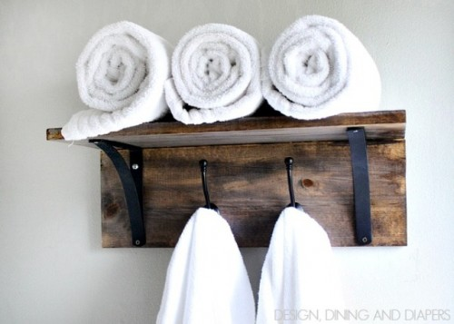 towel hooks. Towel Organizer (via Shelterness) Hooks O