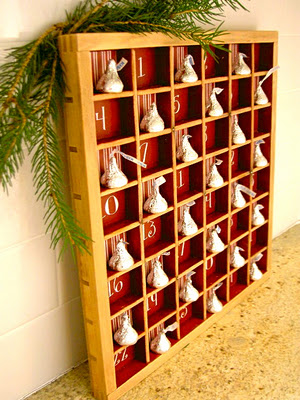 Diy Tray Advent Calendar