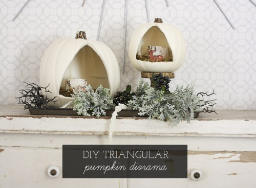 DIY Triangular Pumpkin Diorama