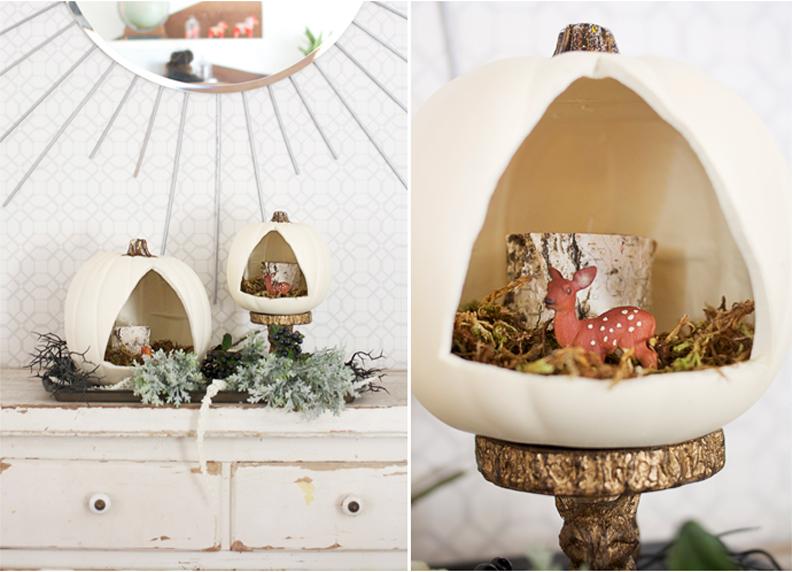 Diy Triangular Pumpkin Diorama