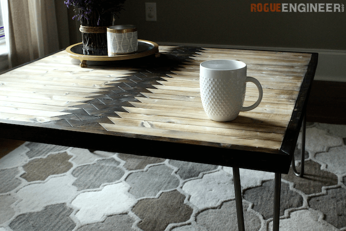 Picture Of diy tribal coffee table with hairpin legs  2