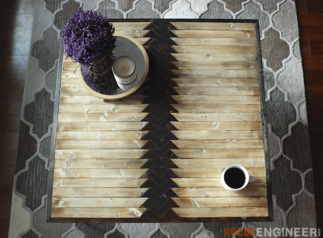Picture Of diy tribal coffee table with hairpin legs  3