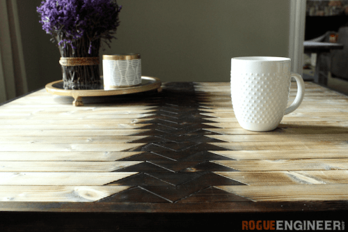 DIY Tribal Coffee Table With Hairpin Legs