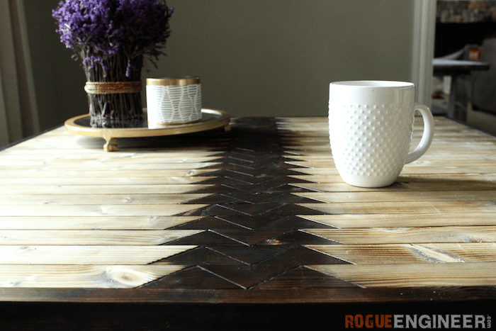 Picture Of diy tribal coffee table with hairpin legs  4