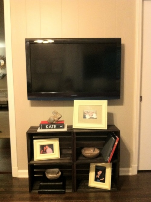 diy cabinet diy tv cabinet of several crates shelterness 14883