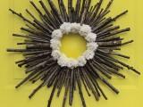 twig and pompom wreath