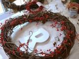 monogram twig wreath