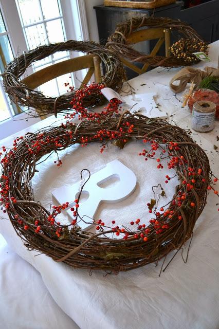 monogram twig wreath (via shorelychic)