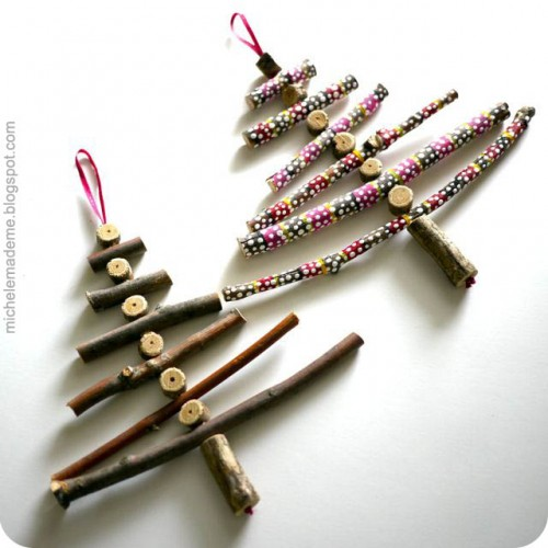 DIY Twiggy Christmas Ornaments (via michelemademe)