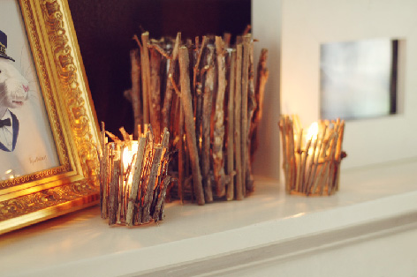 Diy Twine Candle Holders