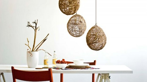Diy Twine Pendant Lights