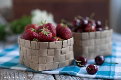 Diy Upcycled Grocery Bag Fruit Basket